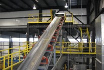 Conveyor that Feeds the Mixer